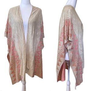 Coral Beige Boho Kimono Shrug